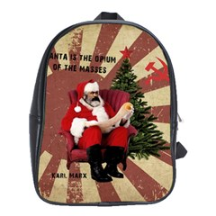 Karl Marx Santa  School Bag (xl)