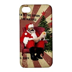 Karl Marx Santa  Apple Iphone 4/4s Hardshell Case With Stand