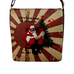 Karl Marx Santa  Flap Messenger Bag (l)