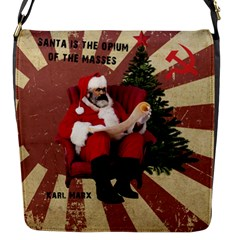 Karl Marx Santa  Flap Messenger Bag (s)