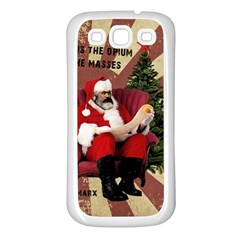 Karl Marx Santa  Samsung Galaxy S3 Back Case (white)