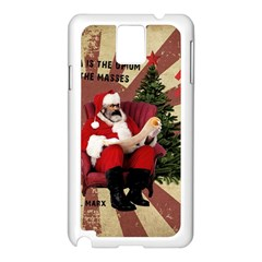 Karl Marx Santa  Samsung Galaxy Note 3 N9005 Case (white)