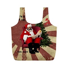 Karl Marx Santa  Full Print Recycle Bags (m)