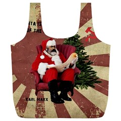 Karl Marx Santa  Full Print Recycle Bags (l)