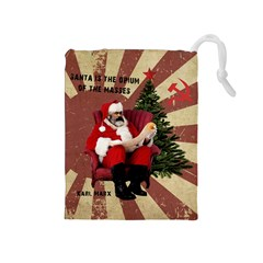 Karl Marx Santa  Drawstring Pouches (medium)