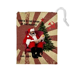 Karl Marx Santa  Drawstring Pouches (large)