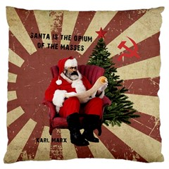 Karl Marx Santa  Large Flano Cushion Case (one Side)
