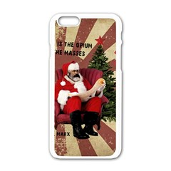 Karl Marx Santa  Apple Iphone 6/6s White Enamel Case