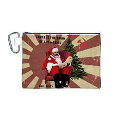 Karl Marx Santa  Canvas Cosmetic Bag (m)