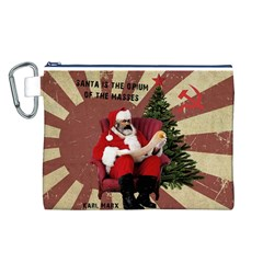 Karl Marx Santa  Canvas Cosmetic Bag (l)