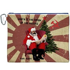 Karl Marx Santa  Canvas Cosmetic Bag (xxxl)
