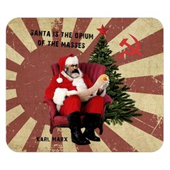 Karl Marx Santa  Double Sided Flano Blanket (small)