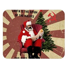 Karl Marx Santa  Double Sided Flano Blanket (large)