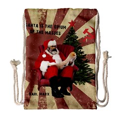 Karl Marx Santa  Drawstring Bag (large)