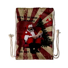 Karl Marx Santa  Drawstring Bag (small)