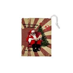 Karl Marx Santa  Drawstring Pouches (xs)