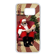 Karl Marx Santa  Samsung Galaxy S7 White Seamless Case