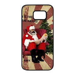 Karl Marx Santa  Samsung Galaxy S7 Edge Black Seamless Case