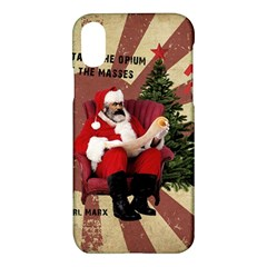 Karl Marx Santa  Apple Iphone X Hardshell Case