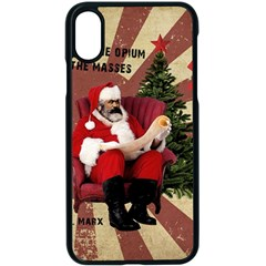 Karl Marx Santa  Apple Iphone X Seamless Case (black)