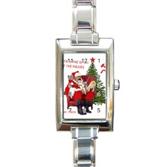 Karl Marx Santa  Rectangle Italian Charm Watch