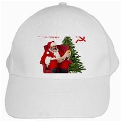 Karl Marx Santa  White Cap