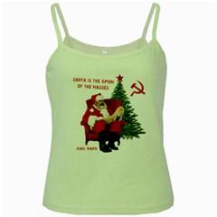 Karl Marx Santa  Green Spaghetti Tank
