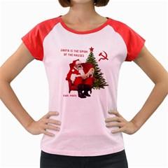 Karl Marx Santa  Women s Cap Sleeve T Shirt