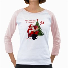 Karl Marx Santa  Girly Raglans