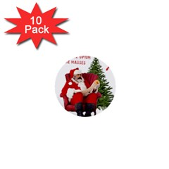 Karl Marx Santa  1  Mini Buttons (10 Pack)