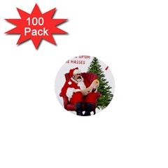 Karl Marx Santa  1  Mini Buttons (100 Pack)