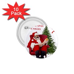 Karl Marx Santa  1 75  Buttons (10 Pack)