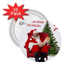 Karl Marx Santa  2 25  Buttons (10 Pack)