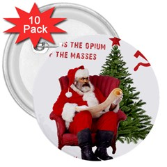 Karl Marx Santa  3  Buttons (10 Pack)