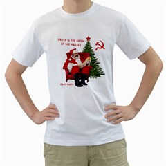 Karl Marx Santa  Men s T Shirt (white) (two Sided)