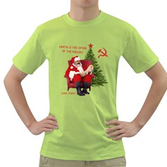 Karl Marx Santa  Green T Shirt