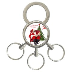 Karl Marx Santa  3 Ring Key Chains