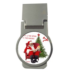Karl Marx Santa  Money Clips (round)