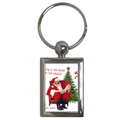 Karl Marx Santa  Key Chains (rectangle)