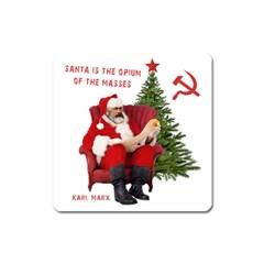 Karl Marx Santa  Square Magnet