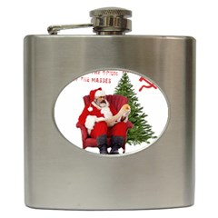 Karl Marx Santa  Hip Flask (6 Oz)