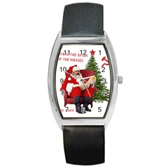 Karl Marx Santa  Barrel Style Metal Watch