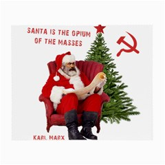 Karl Marx Santa  Small Glasses Cloth