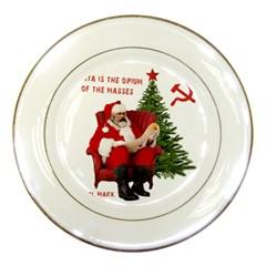 Karl Marx Santa  Porcelain Plates