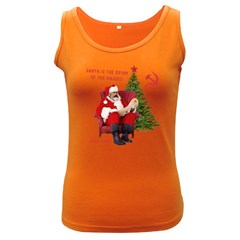 Karl Marx Santa  Women s Dark Tank Top