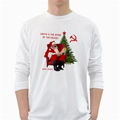 Karl Marx Santa  White Long Sleeve T Shirts