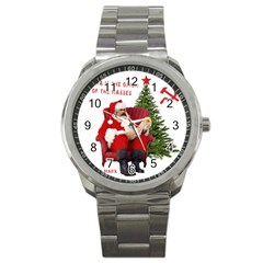 Karl Marx Santa  Sport Metal Watch