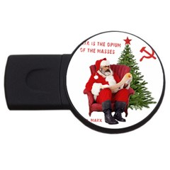 Karl Marx Santa  Usb Flash Drive Round (4 Gb)