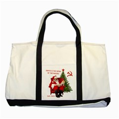 Karl Marx Santa  Two Tone Tote Bag