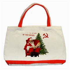 Karl Marx Santa  Classic Tote Bag (red)